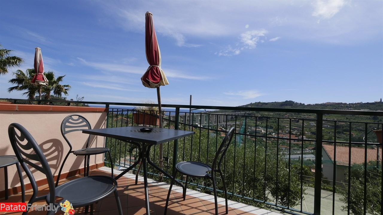 Villa Giada Resort Imperia - Il balconcino con vista panoramica