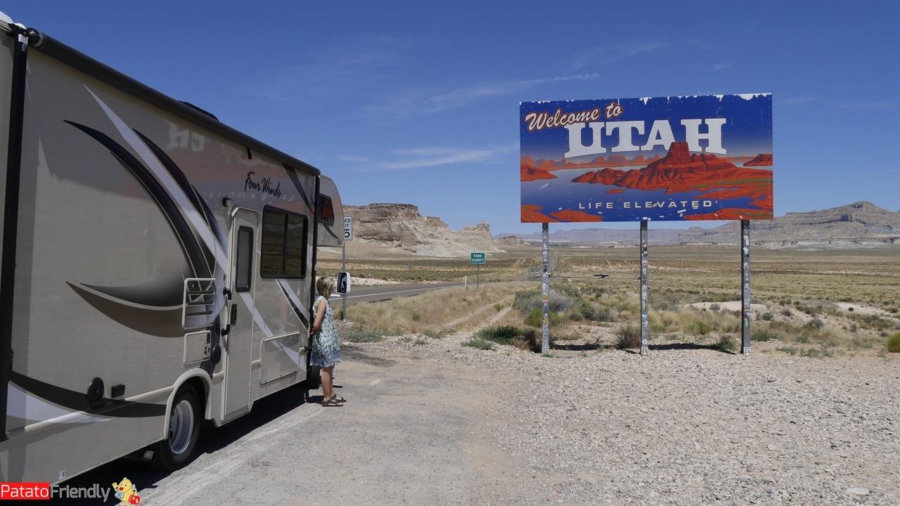 [cml_media_alt id='11476']Il nostro viaggio in camper in USA - Il cartello entrando in Utah[/cml_media_alt]