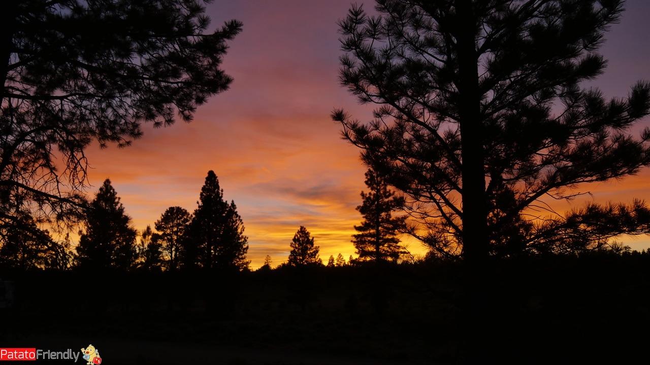 Il nostro viaggio in camper in USA - Il nostro primo tramonto in Camper negli USA