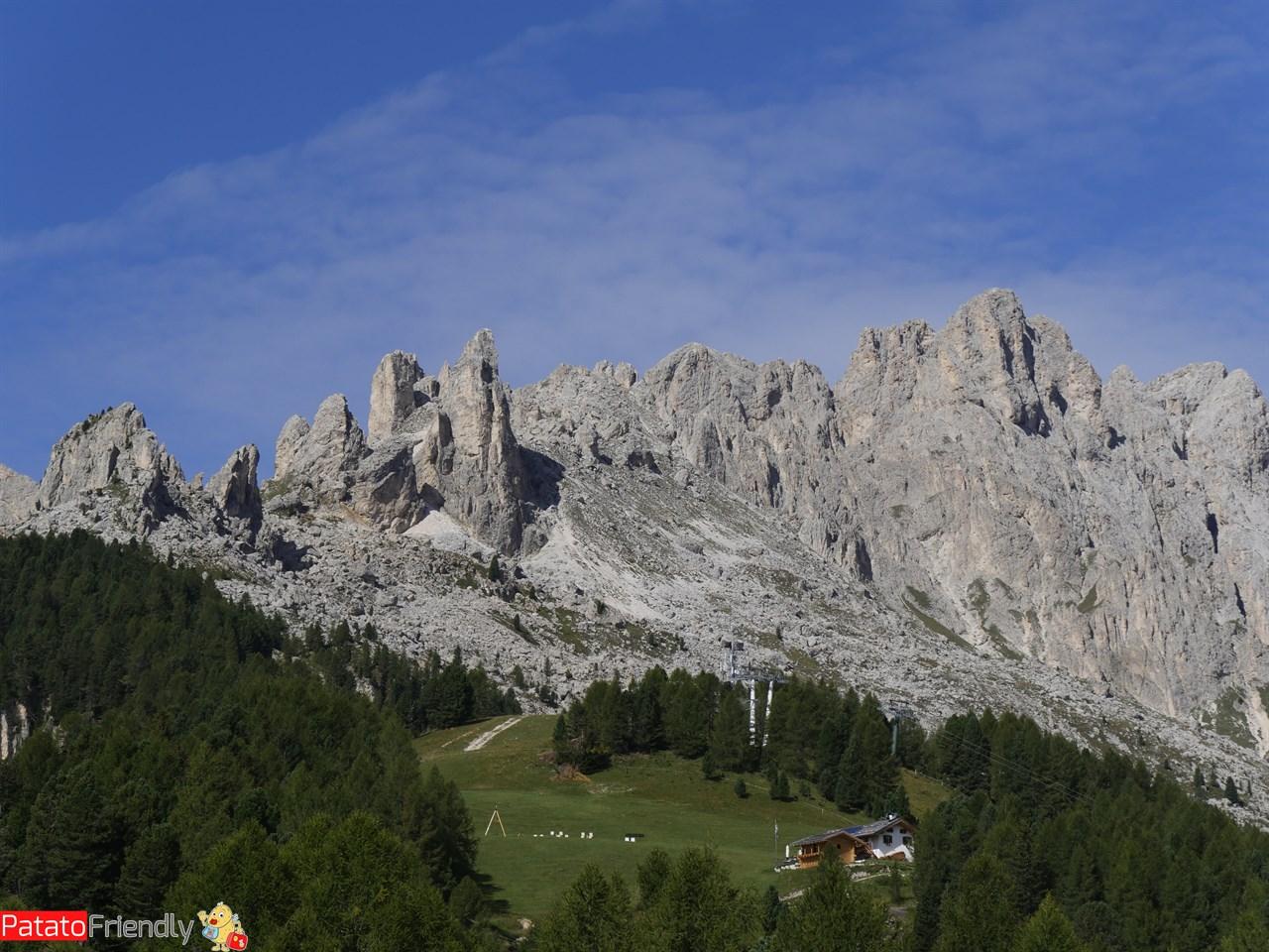 Andare in Val di Fassa coi bambini - Panorama da Ciampedie