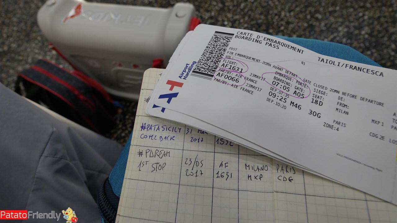 [cml_media_alt id='12362']I biglietti per il volo e il nostro flight book[/cml_media_alt]