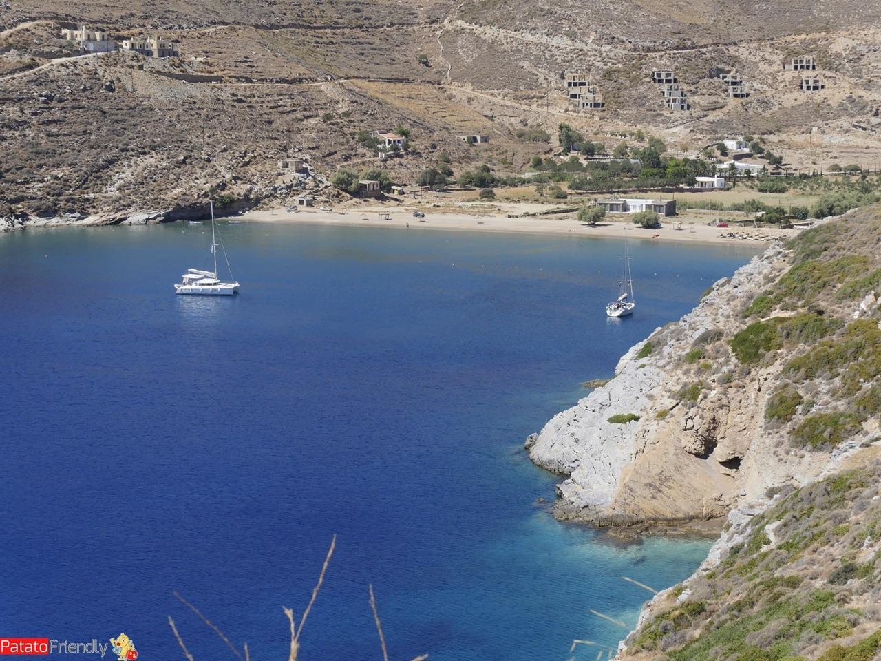 Isola di Kea - La meravigliosa spiaggia di Spathi