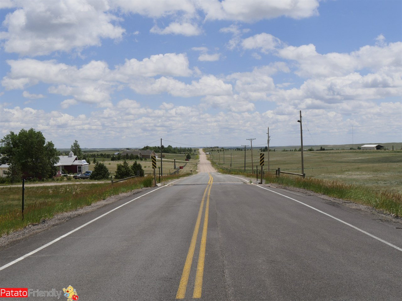 On the road in USA - verso Fort Laramie