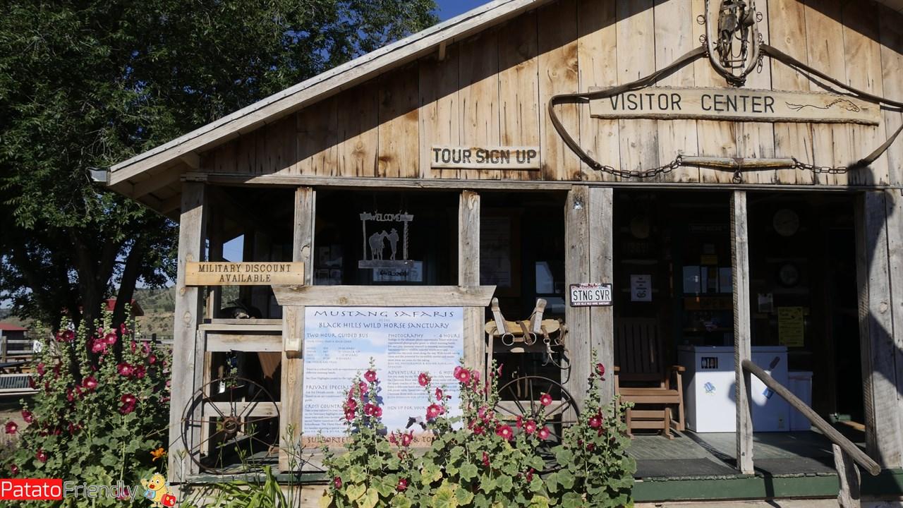 La sede del Black Hills Wild Horse Sanctuary