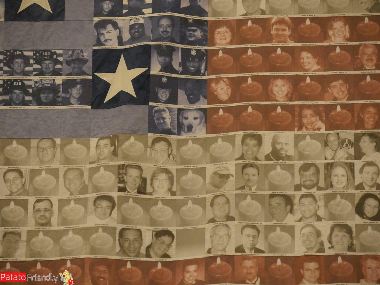 All'interno del Museo dell'11 settembre