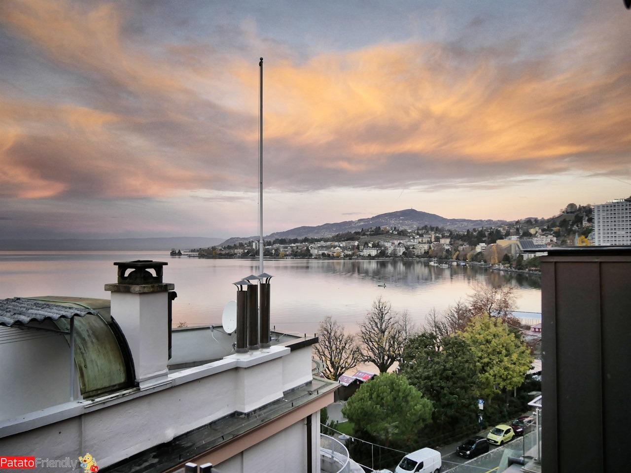 Natale a Montreux coi bambini - L'alba sul Lago di Ginevra