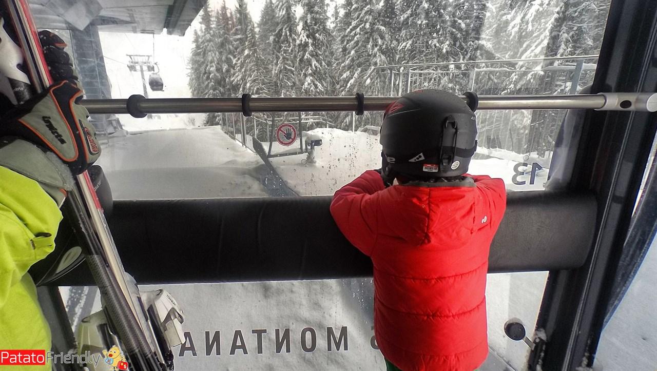 Sciare a Crans-Montana coi bambini