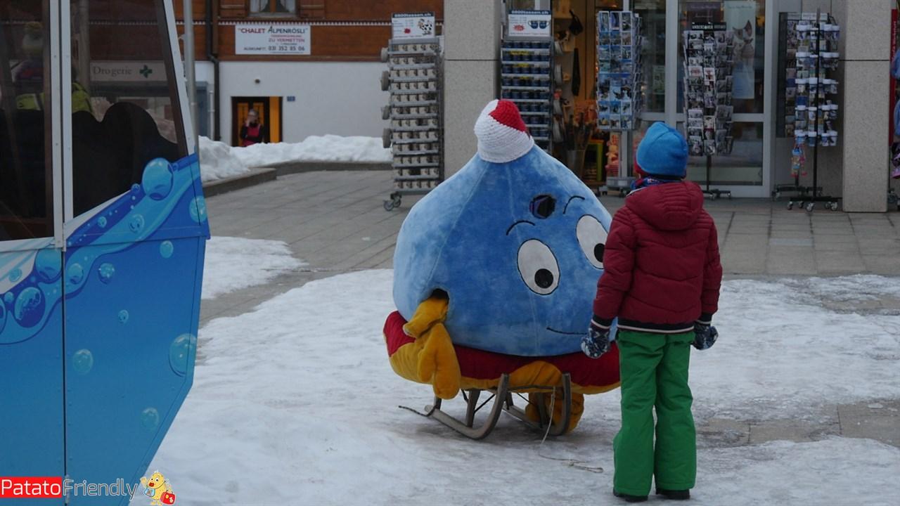 Leukerbad coi bambini - la mascotte Thermi