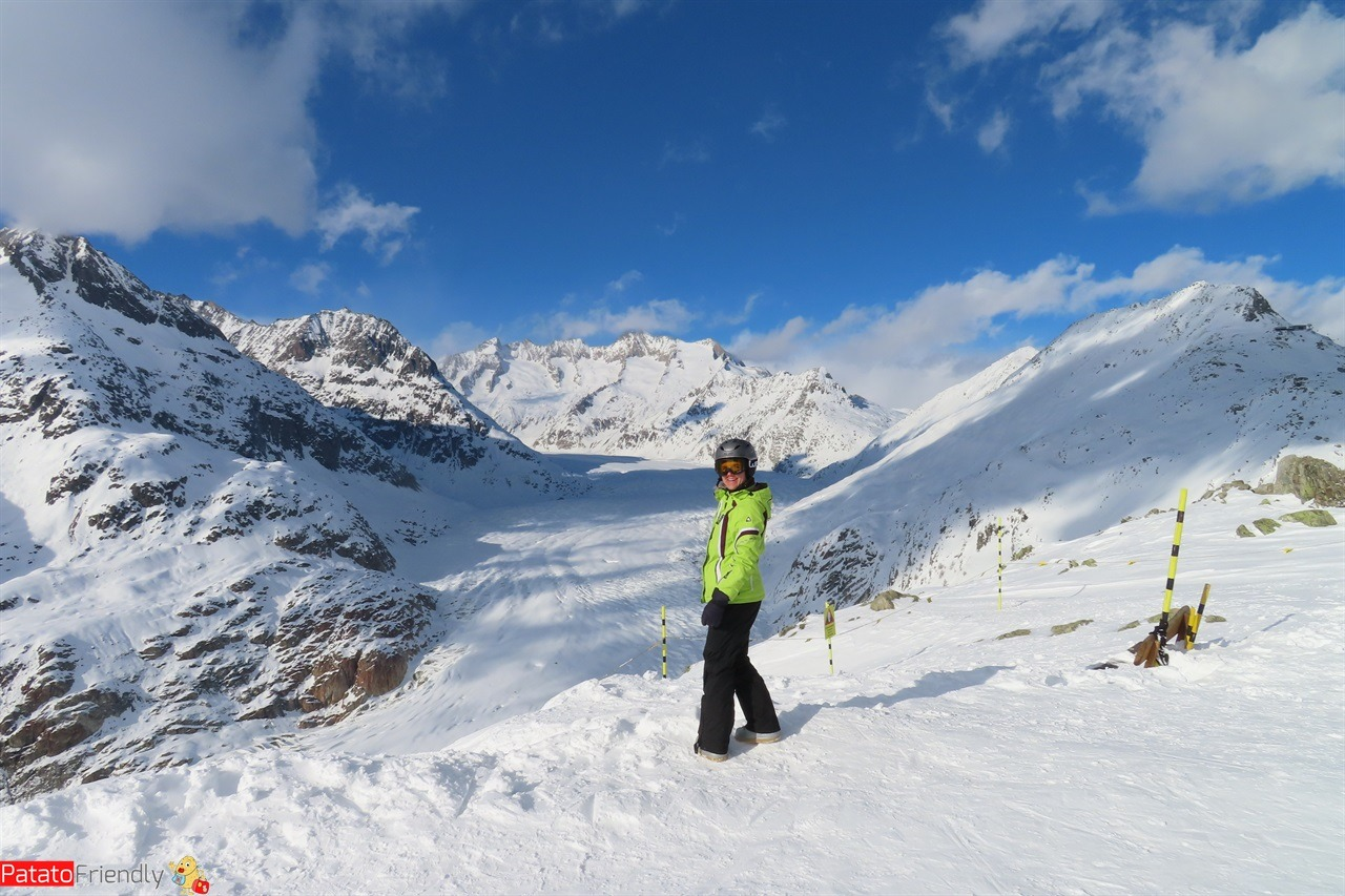 Alestch Arena snow hiking nei villaggi del Vallese in Svizzera