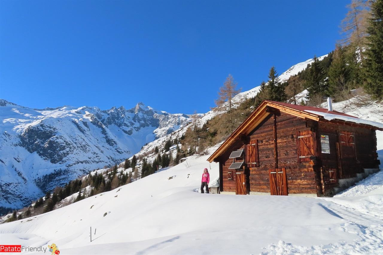 Bellwald una delle baite dei villaggi del Vallese in Svizzera