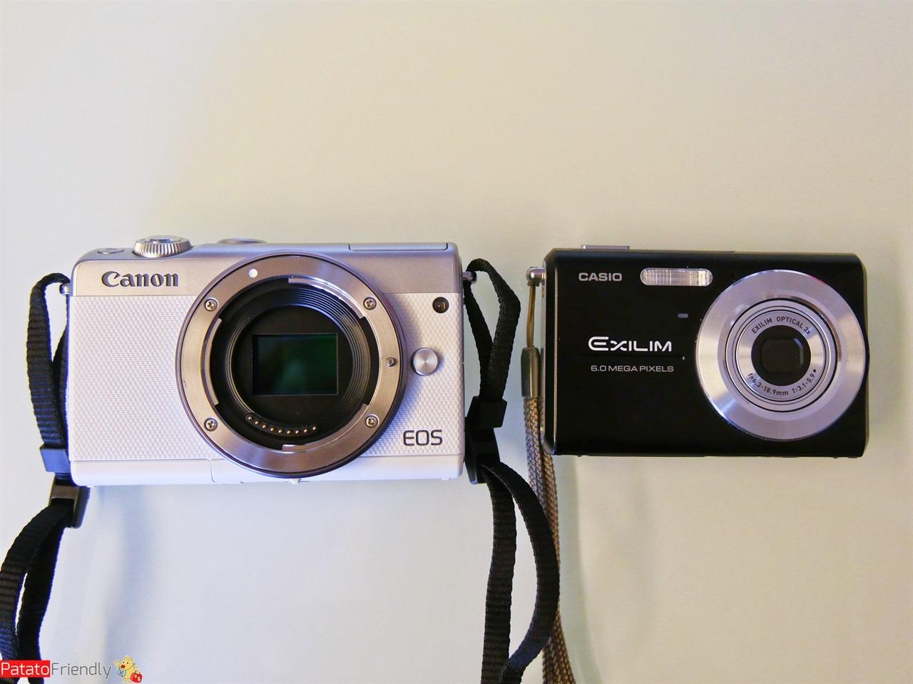 Recensione Canon EOS M100 - A confronto con una fotocamera compatta