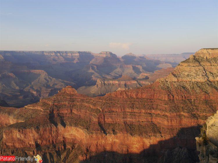 Gran Canyon coi bambini - tramonto