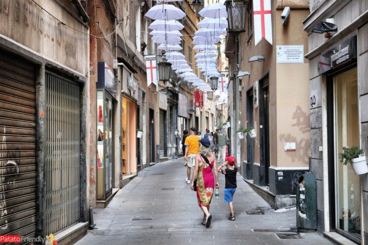 Genova con un bambino - passeggiata in centro