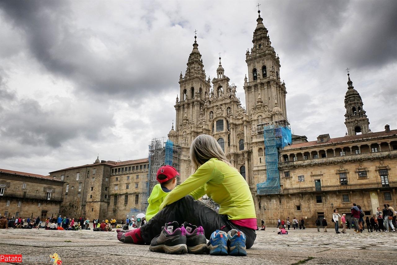 A Santiago con un bambino