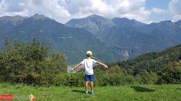 La vista dal Rifugio Riva in Valsassina
