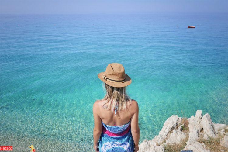 Vacanza in Albania - la spiaggia di Lukove vicino a Saranda