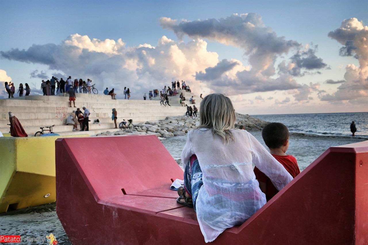 Lungomare di Durazzo - vacanza in Albania coi bambini