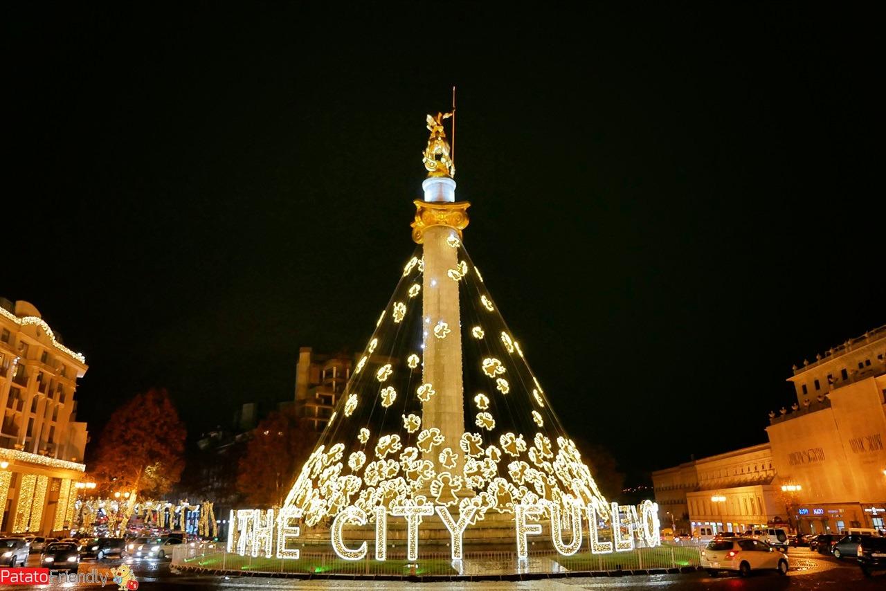 Visitare Tbilisi a Natale - vacanza in Georgia nel periodo Natalizio - immagini festeggiare Capodanno in Georgia