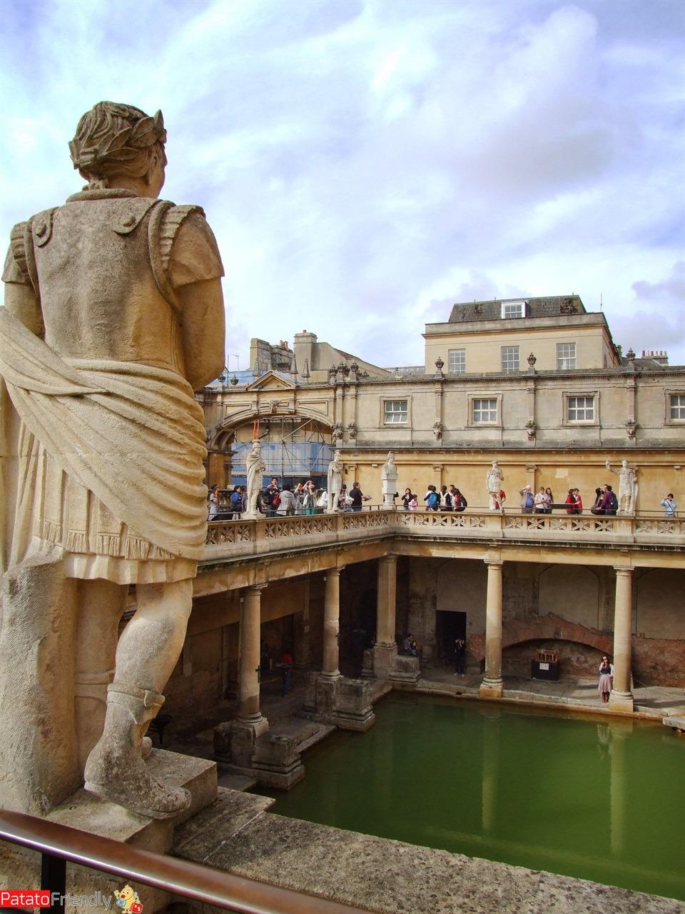 Le antiche terme di Bath in Inghilterra meridionale