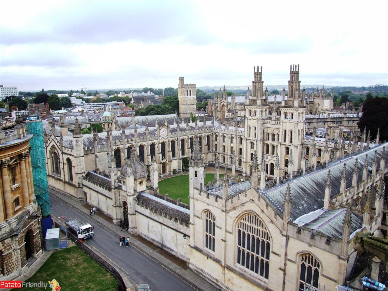 Visitare l'Inghilterra meridionale Oxford dall'alto