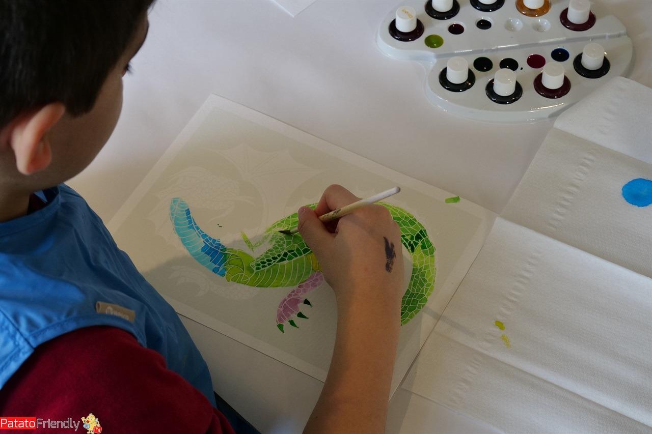 A Cannes con i bambini all'Hotel Barriére le majestic -il nostro bambino che disegna