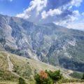 La strada che sale al Passo del Llogara in Albania del sud