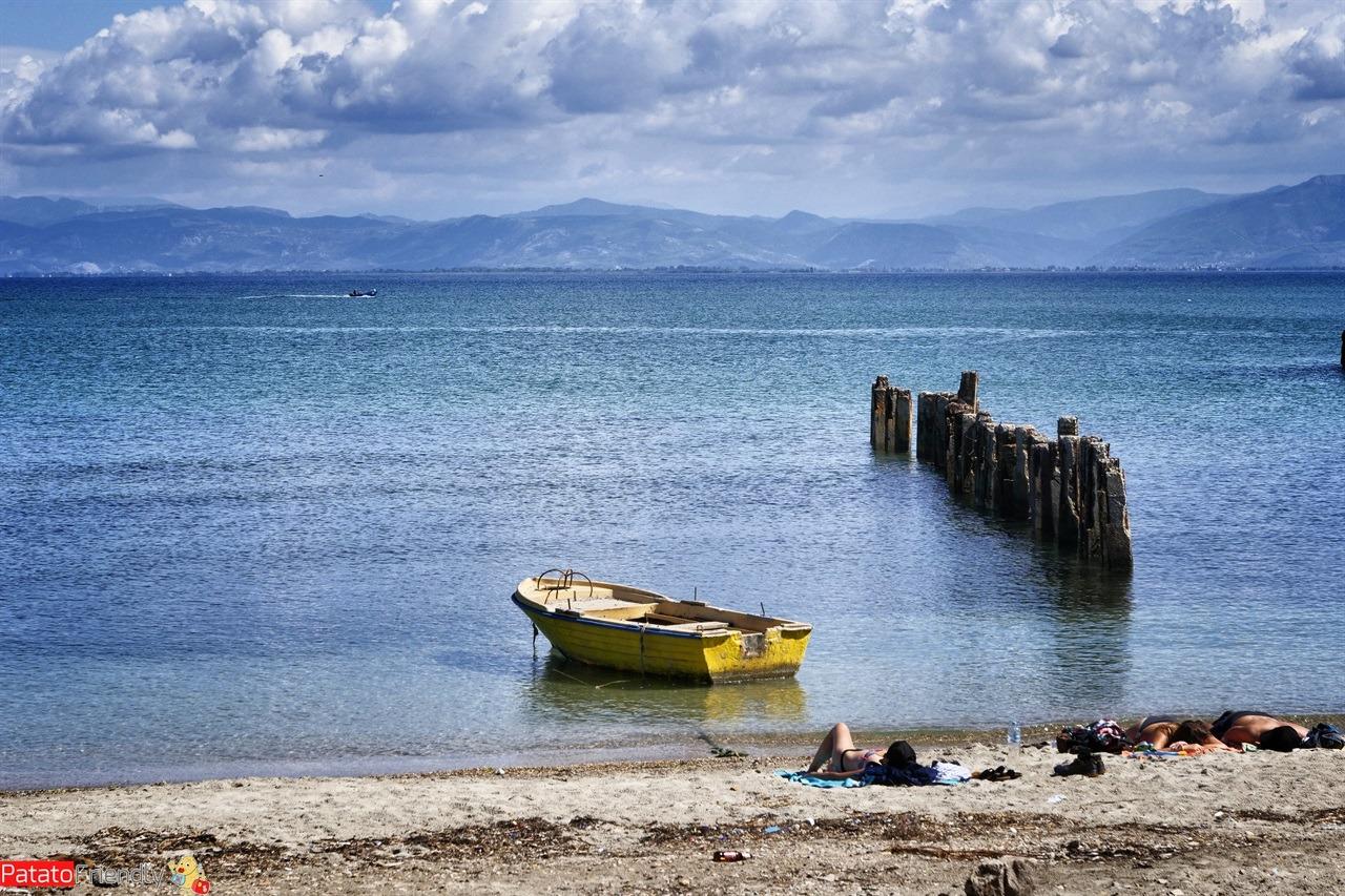 La spiaggia di Kepi i Rodonit vicino a Durazzo