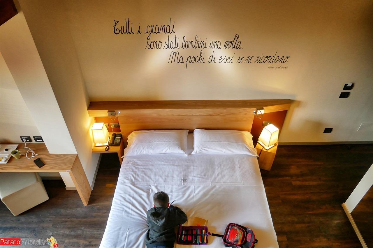 la stanza dell'harmony Suite di Selvino