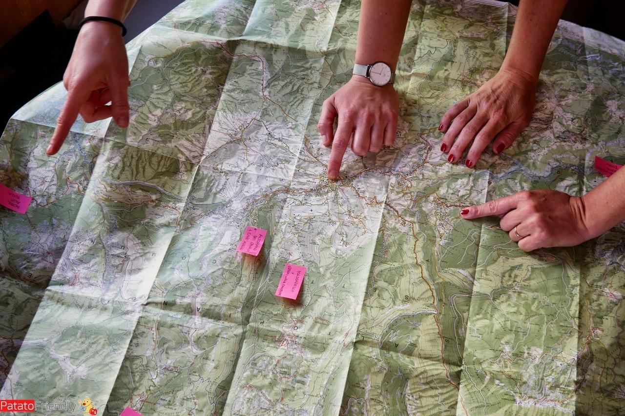 cartina dell'Altopiano di Asiago