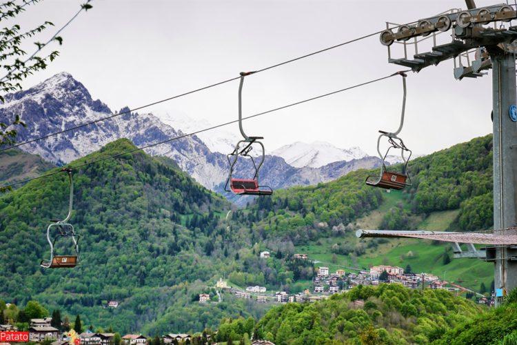 Parnorama dal Monte Purito con la seggiovia