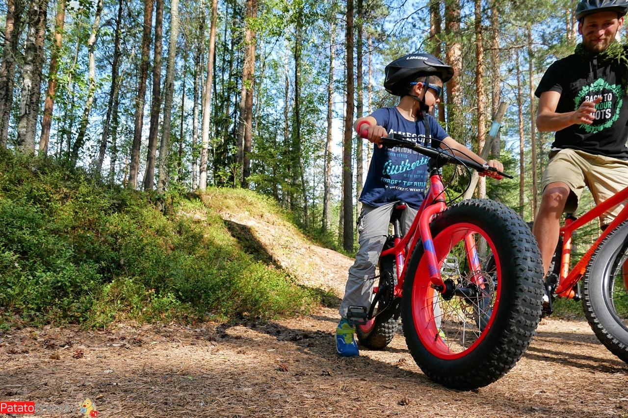 fat bike con bimbo