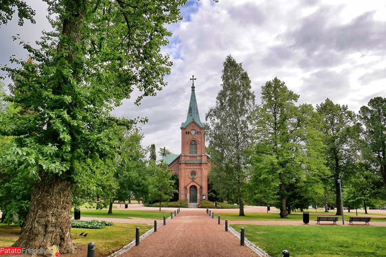 La chiesa di Jyvaskyla in Finlandia
