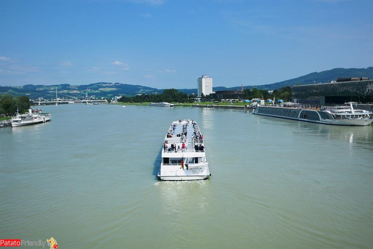 Danubio visto da Linz