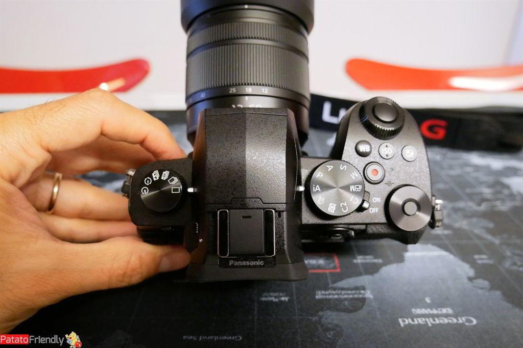 Recensione Panasonic G90 - Tasti e ghiere lato superiore