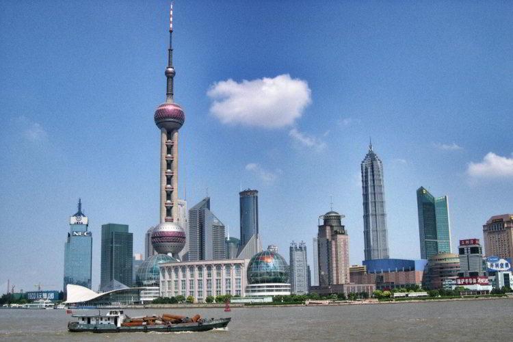 skyline Shanghai con grattacieli